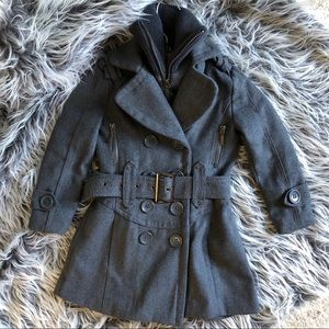 Size 2T Girls Grey Collared Coat